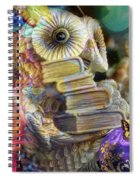 The Christmas Owl  Spiral Notebook