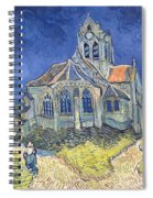 The Church At Auvers Sur Oise Spiral Notebook