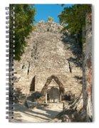 The Church At Grupo Coba At The Coba Ruins  Spiral Notebook