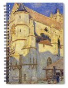 The Church At Moret Spiral Notebook