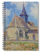 The Church At Porte-joie On The Eure Spiral Notebook