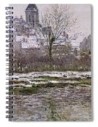 The Church At Vetheuil Under Snow Spiral Notebook