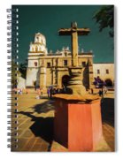 The Church Of San Juan Bautista Of Coyoacan 2  Spiral Notebook
