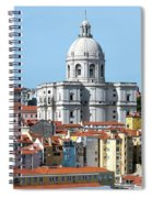 The Church Of Santa Engracia And Rooftops -- Lisbon Spiral Notebook
