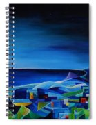 The City At The Sea Spiral Notebook