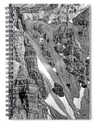 The Climb To Abbot's Hut Bw Spiral Notebook