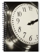 The Clock At Grand Central Spiral Notebook
