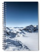 The Clouds Below Spiral Notebook