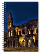 The Coleseum In Rome At Night Spiral Notebook