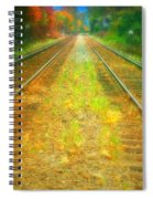 The Colour Along The Tracks Spiral Notebook