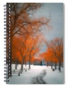The Colours Of Winter Spiral Notebook