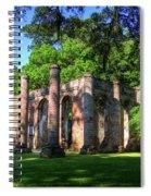The Columns Old Sheldon Church Ruins Spiral Notebook