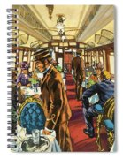 The Comfort Of The Pullman Coach Of A Victorian Passenger Train Spiral Notebook