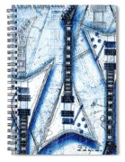 The Concorde Blueprint Spiral Notebook