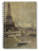 The Construction Of The Eiffel Tower Spiral Notebook