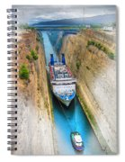 The Corinth Canal  Spiral Notebook