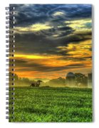 The Cornfield Dawn The Iron Horse Collection Art  Spiral Notebook