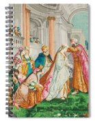The Coronation Of Esther Spiral Notebook