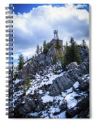 The Cosmic Ray Station Atop Sulphur Mountain, Banff, Canada Spiral Notebook