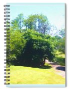 The Country Lane In Spring Time Spiral Notebook