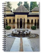 The Court Of The Lions Alhambra Spain Spiral Notebook