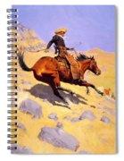 The Cowboy 1902 Spiral Notebook