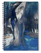 The Creekside Bath Of Alice In Royal Blue Spiral Notebook