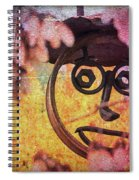 The Creepy All Seeing Bolted Dude Spiral Notebook