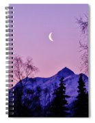 The Crescent Moon In Lavender Spiral Notebook