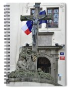 The Cross And Flags Spiral Notebook