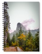 The Cross On The Top Of The Mountain Spiral Notebook