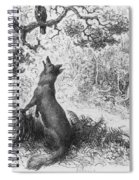The Crow And The Fox Spiral Notebook