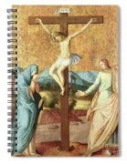 The Crucifixion With The Virgin And St John The Evangelist Spiral Notebook