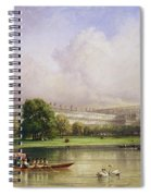 The Crystal Palace Seen From The Serpentine Spiral Notebook