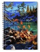 The Crystal Waters Of Lake Tahoe Spiral Notebook