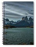 The Cuernos And Lake Pehoe #3 - Chile Spiral Notebook