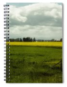 The Curve Of A Mustard Crop Spiral Notebook