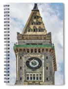 The Customs House Clock Tower Boston Spiral Notebook