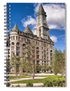 The Customs House Clock Tower Spiral Notebook