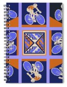 The Cyclist Race Spiral Notebook