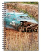 The Damaged Car In A Smoke Spiral Notebook