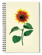The Dancing Sunflower Spiral Notebook
