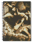 The Dark Dinosaur Abstract Spiral Notebook