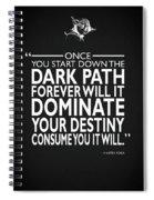 The Dark Path Spiral Notebook