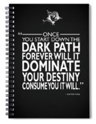 The Dark Path Spiral Notebook