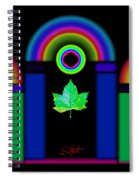 The Dark Side Of The Tuscan Moon Spiral Notebook
