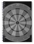 The Dart Board In Black And White Spiral Notebook