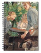 The Daughters Of The Artist In The Garden Spiral Notebook