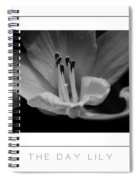 The Day Lily Poster Spiral Notebook