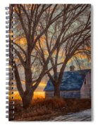 The Day's Last Kiss Spiral Notebook